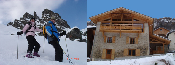 Chris & Susan with their ski chalet