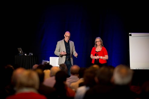 Chris and Susan Beesley Teaching On Stage