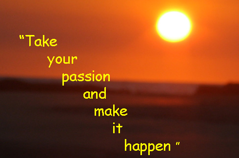 take your passion and make it happen