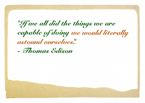 Thomas Edison Quote Chris and Susan Beesley