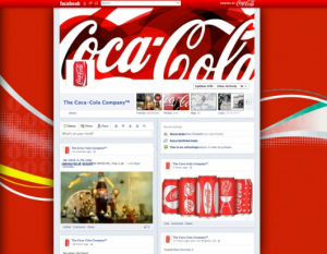 Coca Cola Timeline Mock Up from Mashable