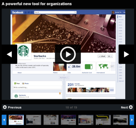 Facebook Timeline - Starbucks