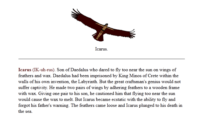 We love the story of icarus and if you have never read it before then